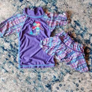 3T Swim Suit Mermaid Purple